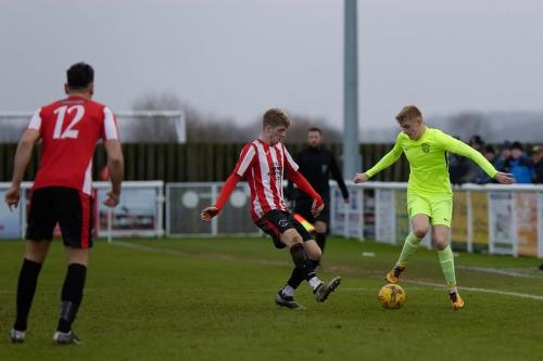 Photo 24 Ben Cook with the ball on the touchline